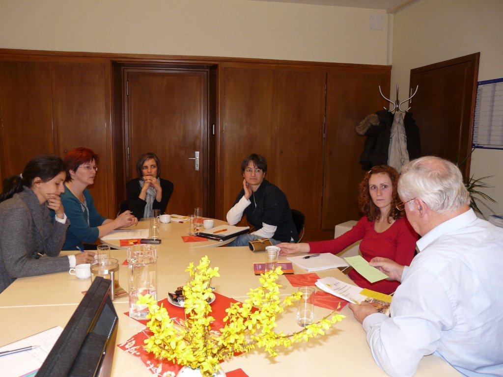 Planungsgespräch des Kernteams von PRIM mit Ernst Schwald