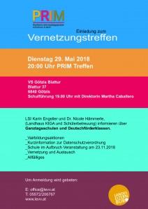 Prim Einladung Mai 18
